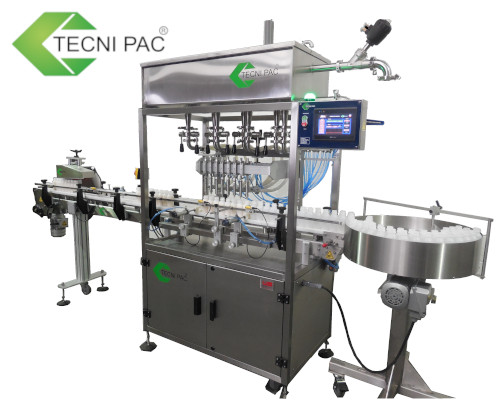 Llenadora Automática a Sobrepresión marca TECNI PAC®, modelo M-61/SP/8